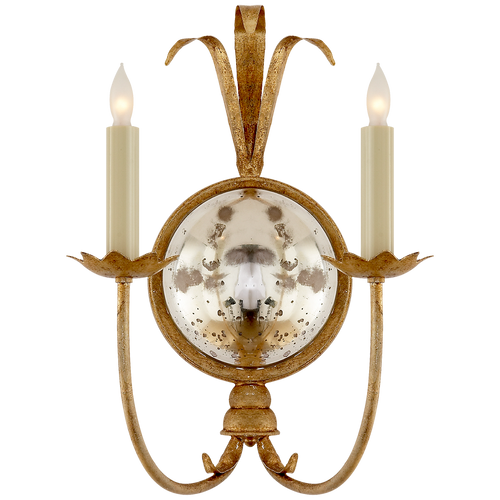 Gramercy Double Sconce Gilded Iron