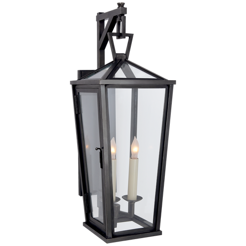 Darlana Small Tall Bracketed Wall Lantern Bronze