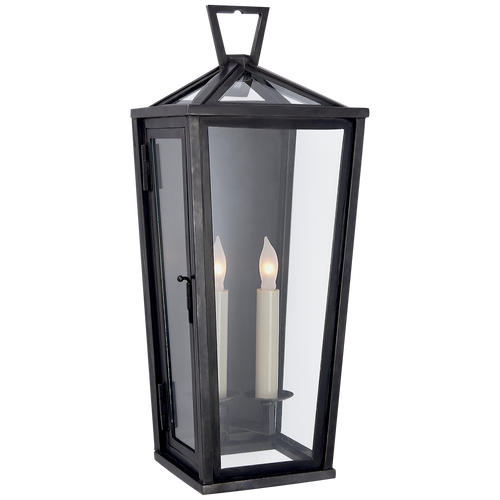 Darlana Small Tall 3/4 Wall Lantern Bronze