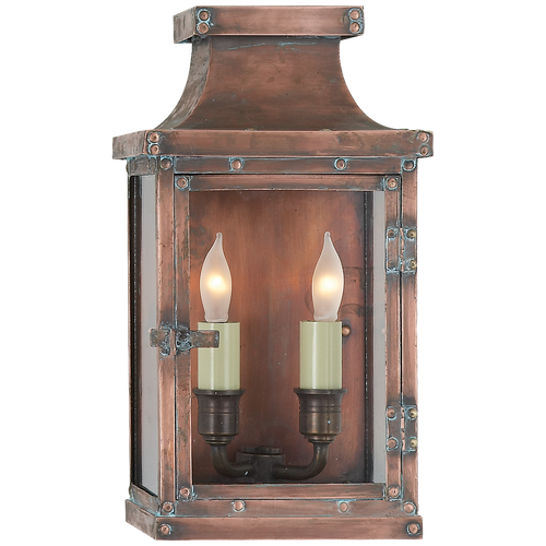 Bedford Small 3/4 Lantern Natural Copper