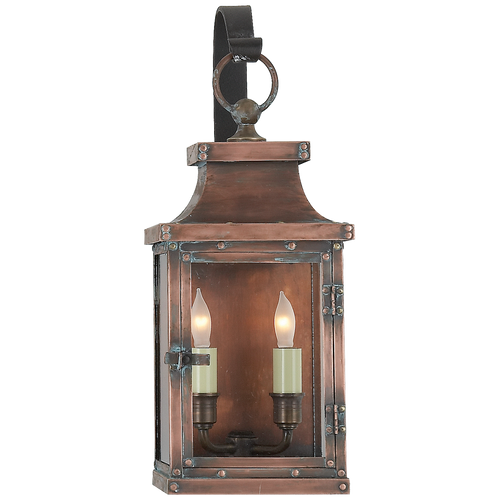 Bedford Small Scroll Arm Lantern Natural Copper