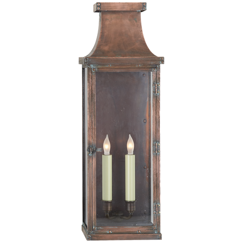 Bedford Large 3/4 Lantern Natural Copper