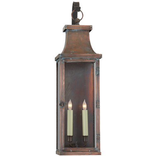 Bedford Large Scroll Arm Lantern Natural Copper