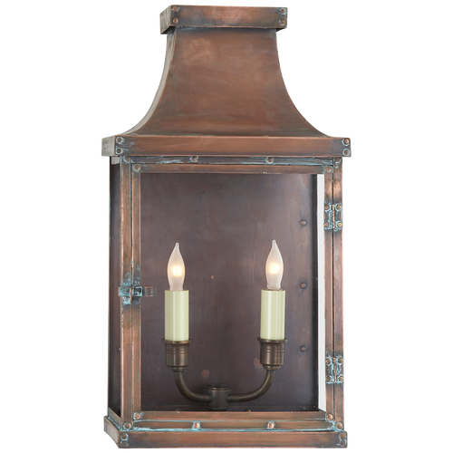 Bedford Wide Short 3/4 Lantern Natural Copper