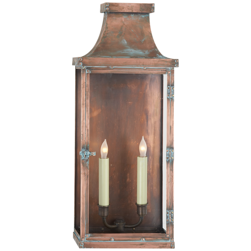 Bedford Wide Tall 3/4 Lantern Natural Copper
