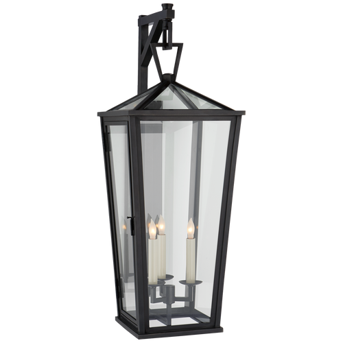 Darlana Large Tall Bracketed Wall Lantern Bronze