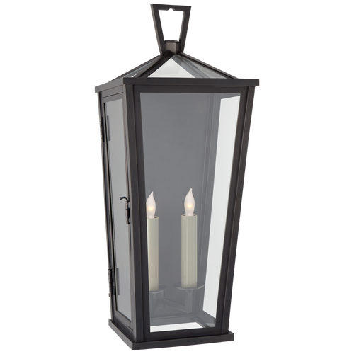 Darlana Medium Tall 3/4 Wall Lantern Bronze