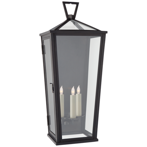 Darlana Large Tall 3/4 Wall Lantern Bronze