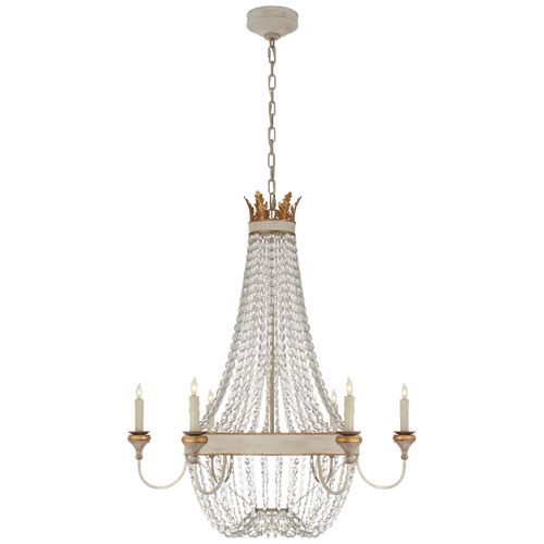 Entellina Chandelier Vintage White and Gild