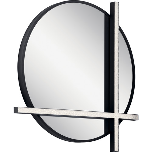 Kemena LED Lighted Mirror Matte Black