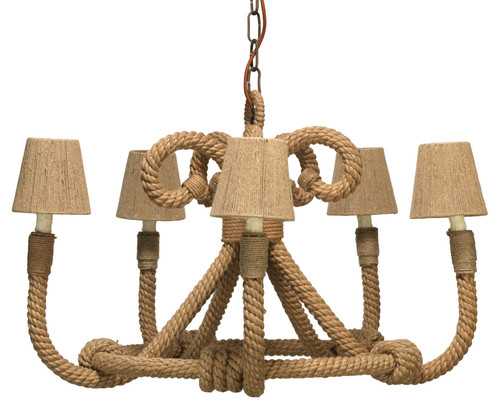 Nautique Chandelier in Jute