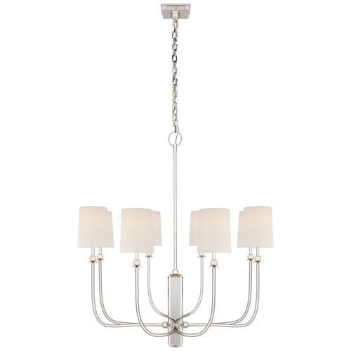 Polished Nickel with Linen Shades