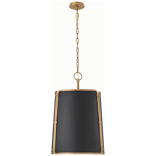 Hand-Rubbed Antique Brass with Black Shade