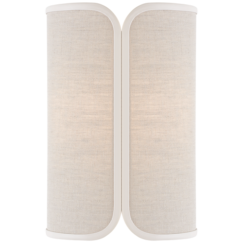 Soft Brass with Natural Linen with Cream Trimmed Shade