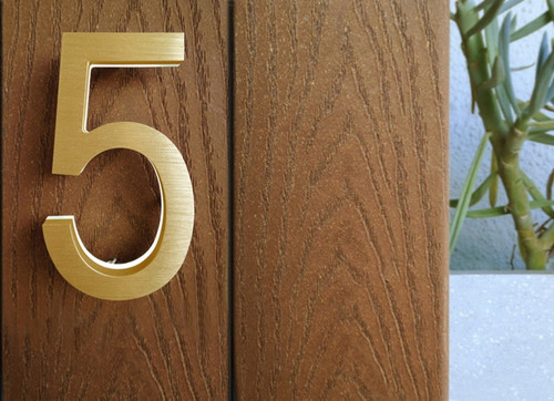 "Modern 5"" LED Illuminated Address Numbers"