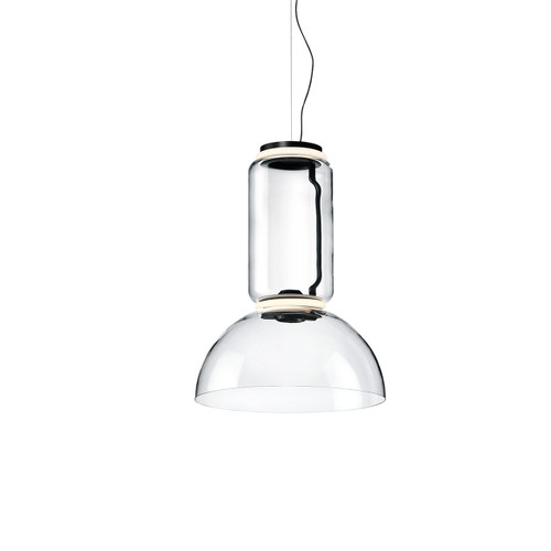Noctambule Shade Low Cylinder Pendant With Bowl