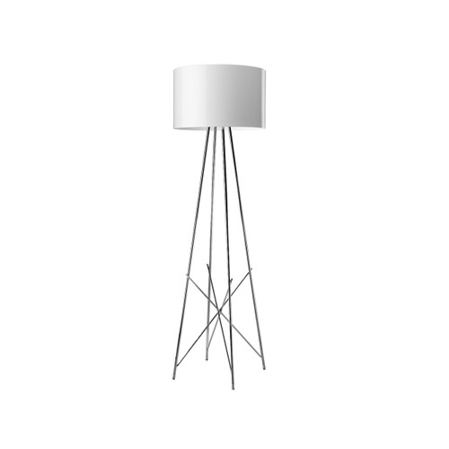 Ray Floor Lamp Dimmable in Glossy Black, White or Grey tall