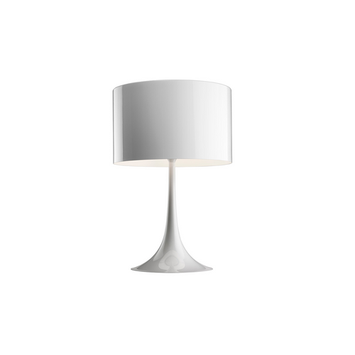 Spun Light Table Lamp Shiny White