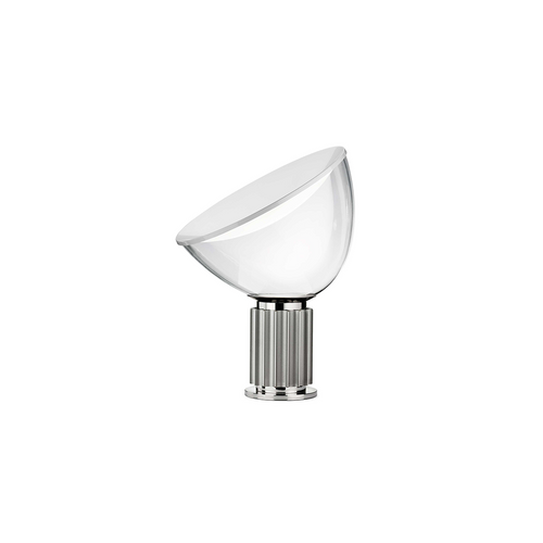 Taccia Small - Aluminum LED Table Lamp in Silver, Black, or Bronze