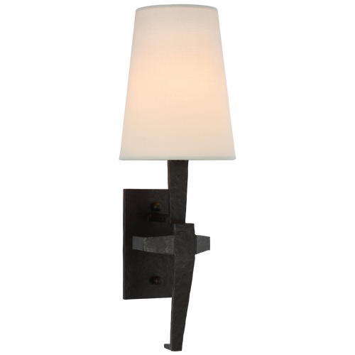 Francesco Single Sconce in Aged Iron