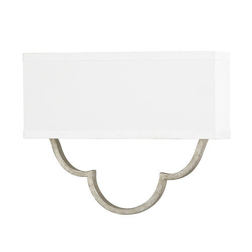 Blair 1-Light Sconce in Antique Silver with fabric shade