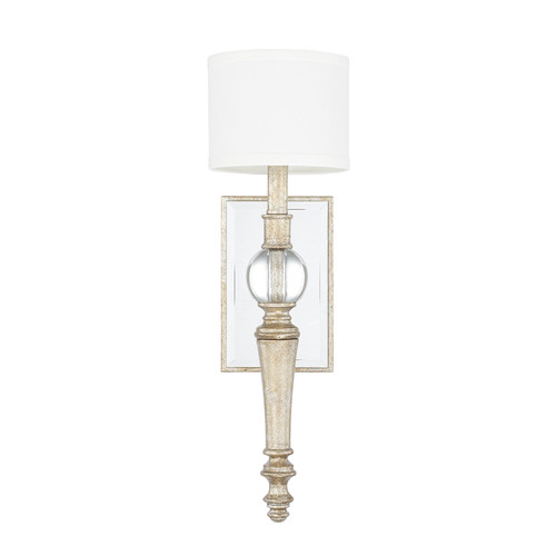 Carlyle 1-Light Sconce in Gilded Silver