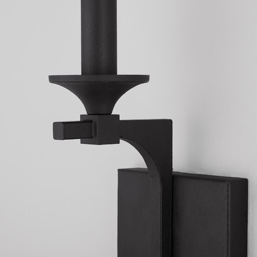 Clint 1-Light Sconce in Black Iron