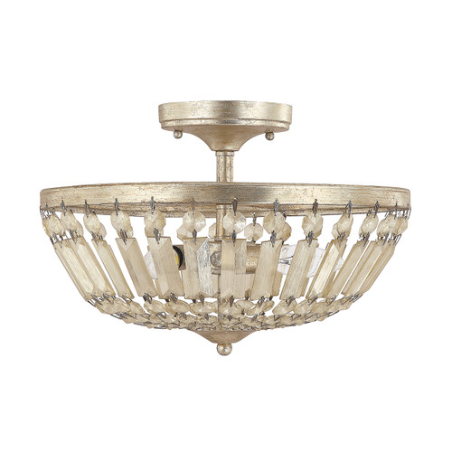 Fifth Avenue Painted Crystal Semi-Flush Mount