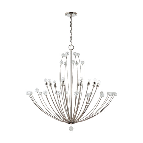 Audra  10-Light Chandelier in Polished Nickel
