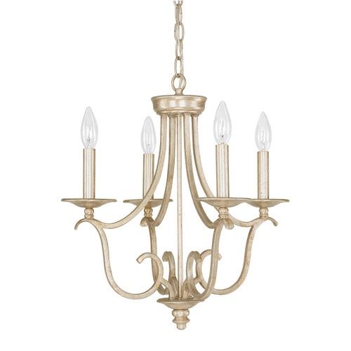 Bailey 4-Light Mini Chandelier in Winter Gold