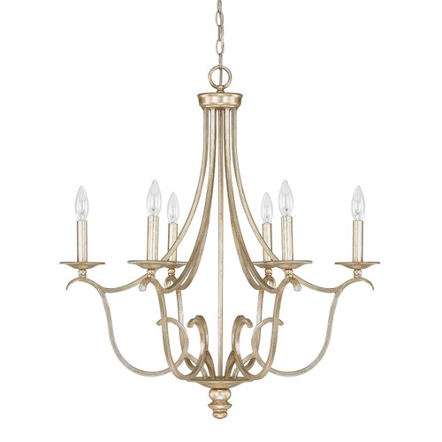 Bailey 6-Light Chandelier in Winter Gold