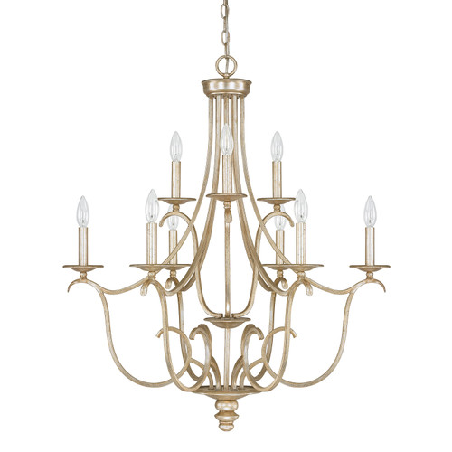 Bailey 9-Light Chandelier in Winter Gold