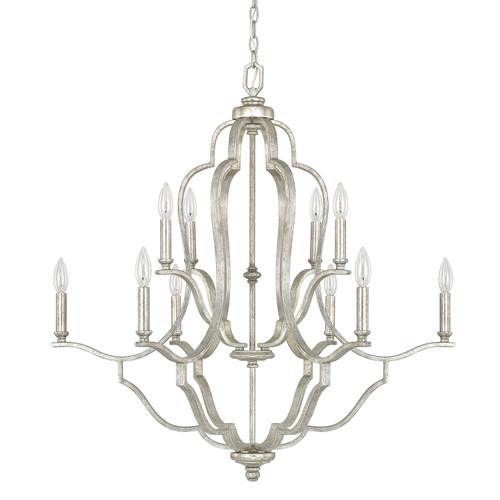 Blair 10-Light Chandelier in Antique Silver