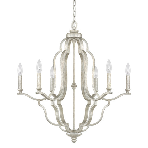 Blair 6-Light Chandelier in Antique Silver