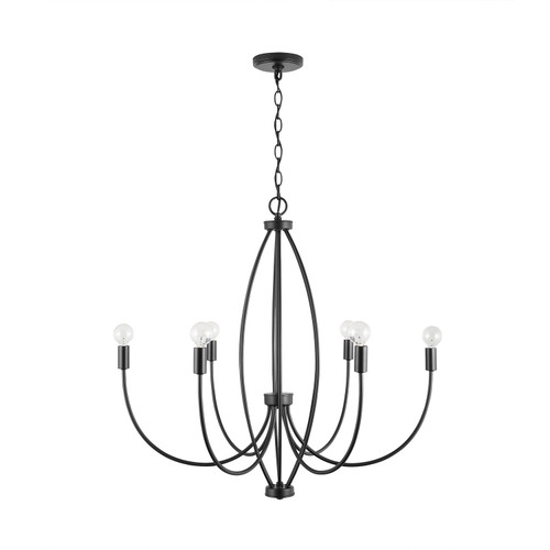 Corey 6-Light Chandelier in Matte Black