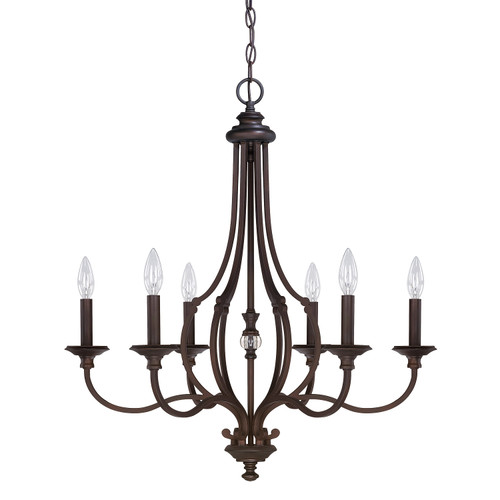 Leigh 6-Light Chandelier in Burnished Bronze