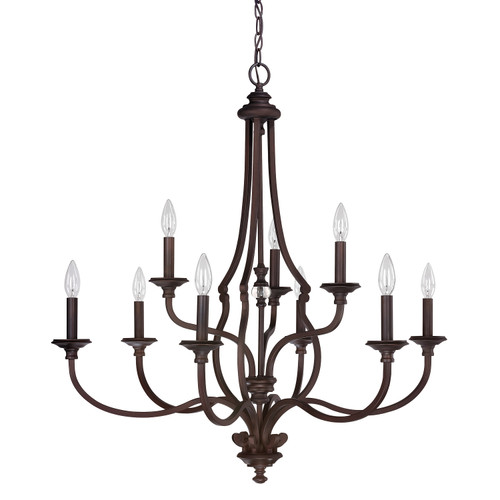 Leigh 9-Light Chandelier in Burnished Bronze