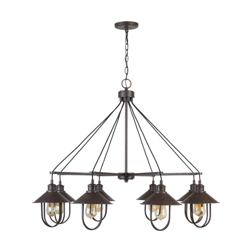 Pawley 8-Light Chandelier in Mineral Brown