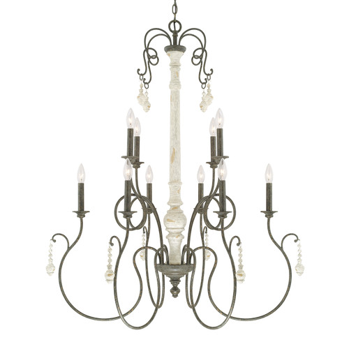 Vineyard 10-Light Chandelier in French Country