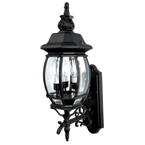 French Country 3-Light Outdoor Wall Mount