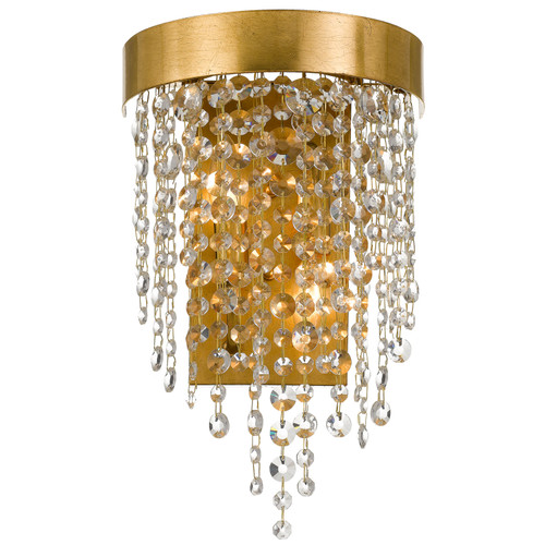 Crystorama Winham 2 Light Antique Gold Crystal Sconce