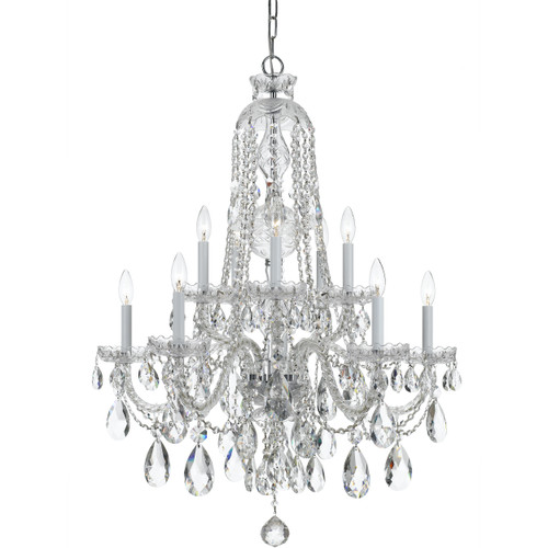 Traditional Crystal 10 Light Chandelier