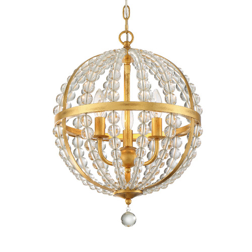 Crystorama Roxy 3 Light Chandelier