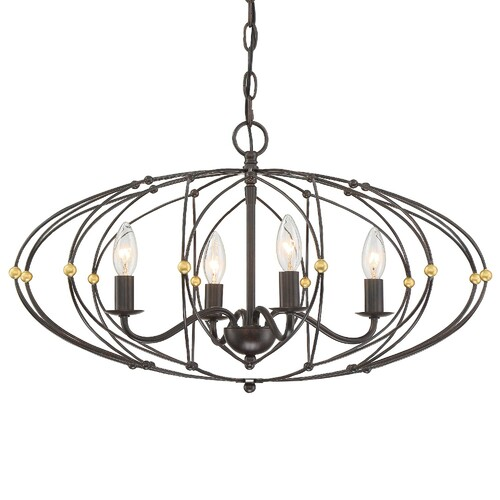 Crystorama Zucca 4 Light Chandelier