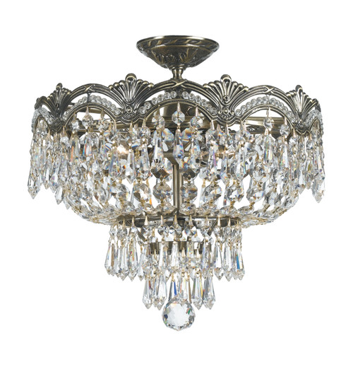 Crystorama Majestic 3 Light Semi-Flush