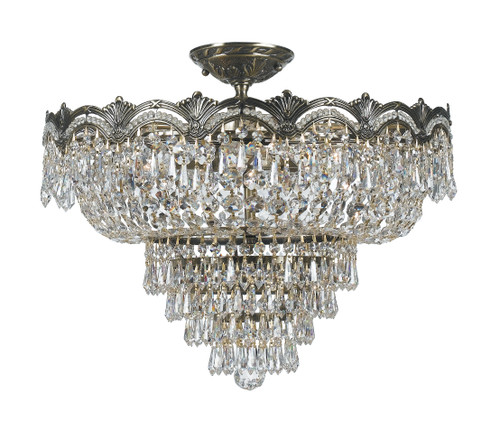 Crystorama Majestic 5 Light Semi-Flush