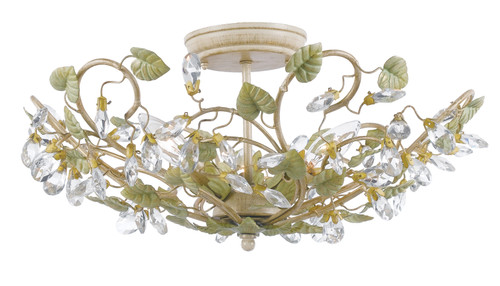 Crystorama Josie 5 Light Semi-Flush
