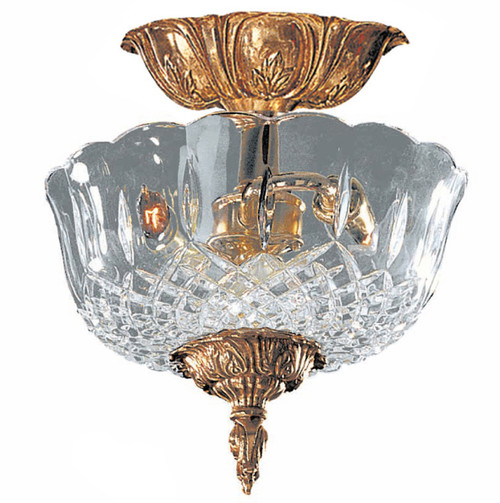 Crystorama 2 Light Lead Crystal Ceiling Mount II