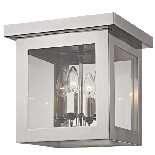 Brian Patrick Flynn for Crystorama Hurley 4 Light Polished Nickel Ceiling Mount