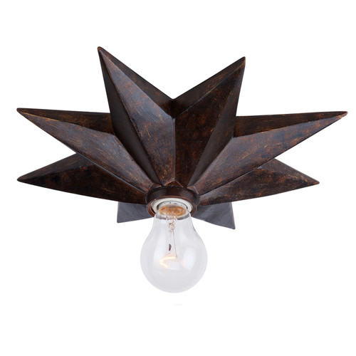 Crystorama Astro 1 Light English Bronze Flush Mount